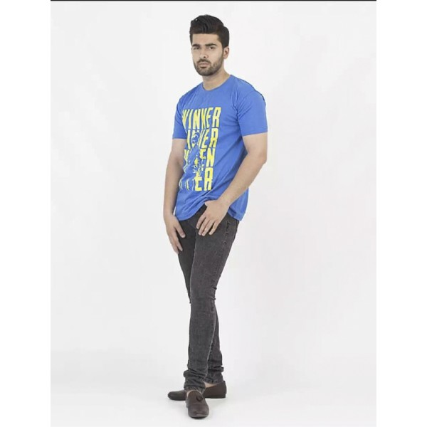 Chicken Dinner Printed Cotton T shirt For Him
