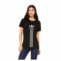 Black adidas Printed Cotton T shirt For Her