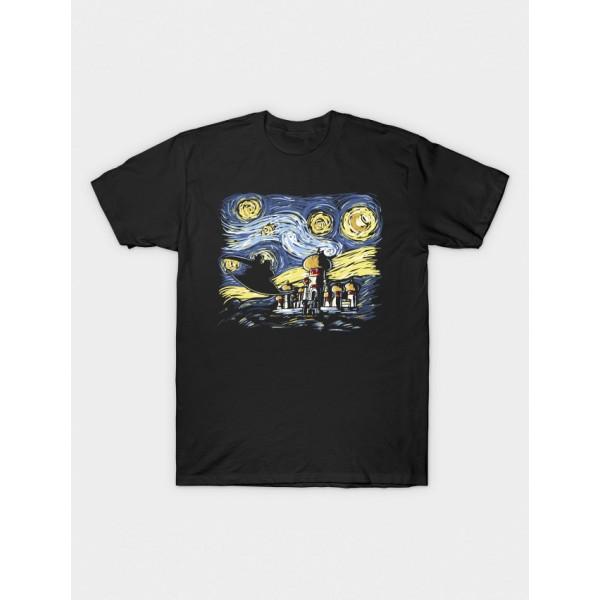Black Aladin Printed Cotton T shirt