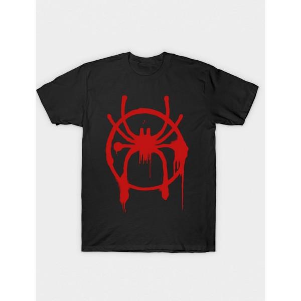 Black Printed Cotton T shirt