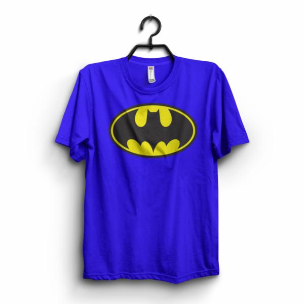 Royal Blue Batman Printed Cotton T shirt For Him