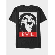 Black EVIL Printed Cotton T shirt