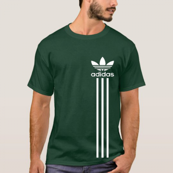 Green Printed Cotton T shirt For Him