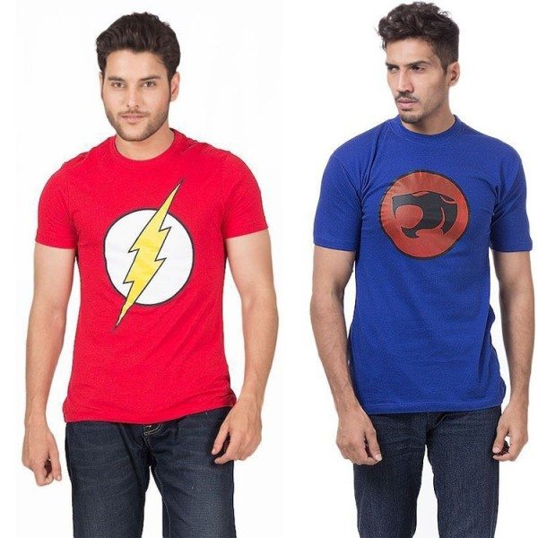 Pack of 02 Super Heroes Mens T shirts