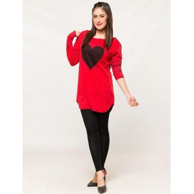 Black Heart Womens T shirt