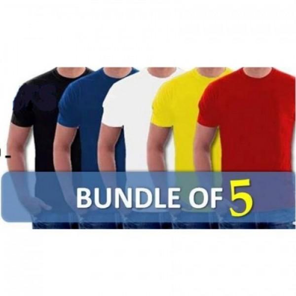 Pack of 05 Round Neck Tshirts