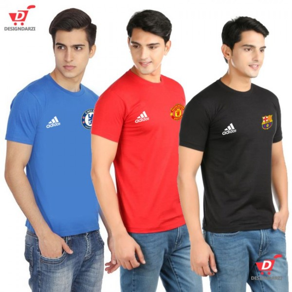 Pack of 03 Soccer Clubs Logo T shirts