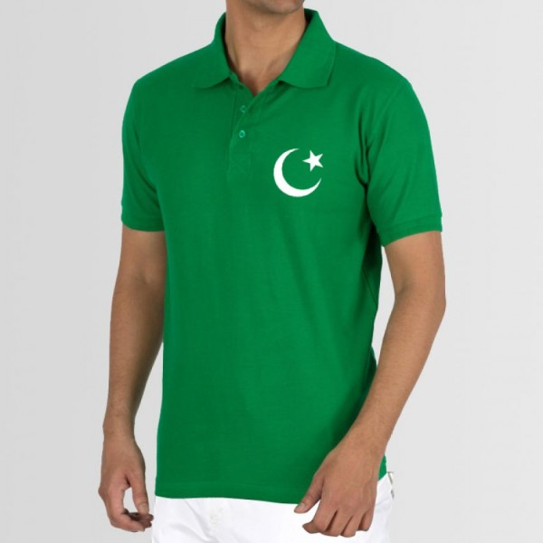 Pakistan Green Polo T shirt - Independence Day Special