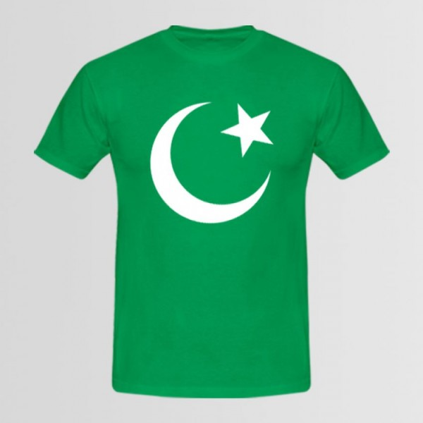 14 August Green Round Neck T shirt - Independence Day Special