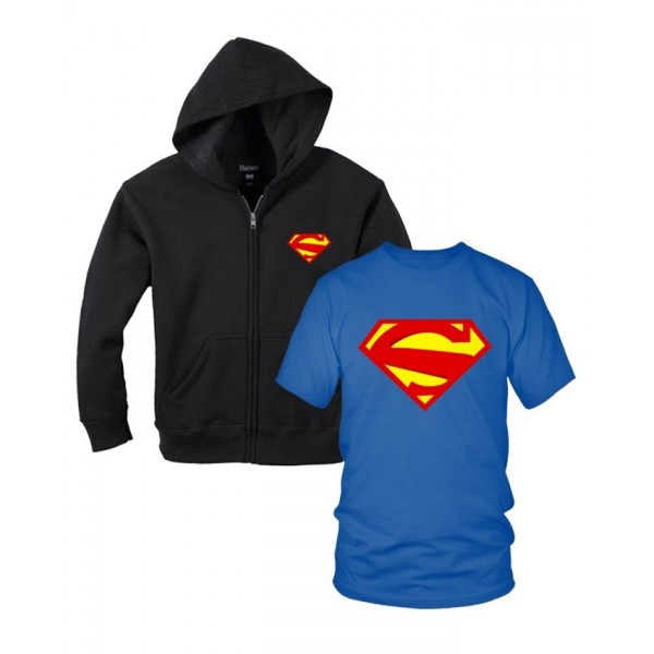 SuperMan Hoodie With T shirt