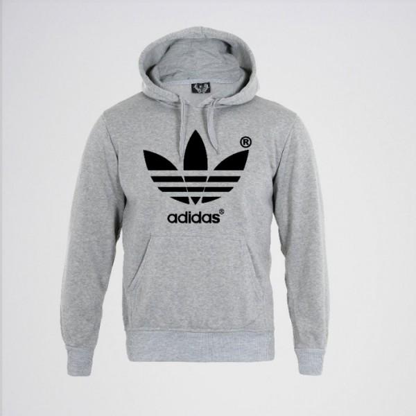 Grey Color Kangaroo hoodie for Men