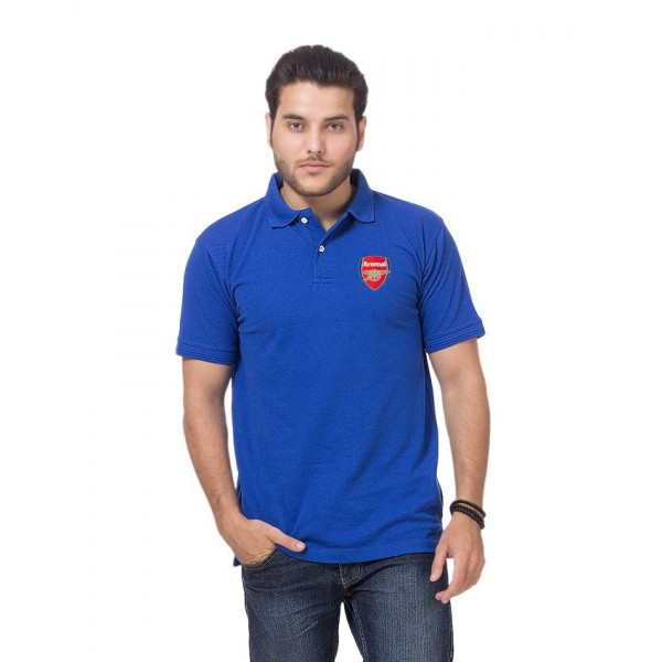 Royal Blue Arsenal Logo Polo T Shirt for him