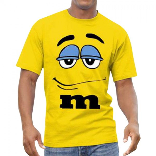 M Graphics T shirt for him in yellow colour