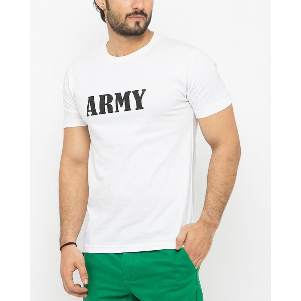 Army Graphic White Tshirts For Mens