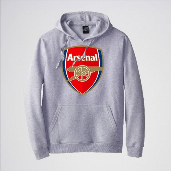 Arsenal Heather Grey Kangaroo hoodie