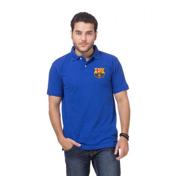 Royal Blue FCB Logo Polo Shirt For Him