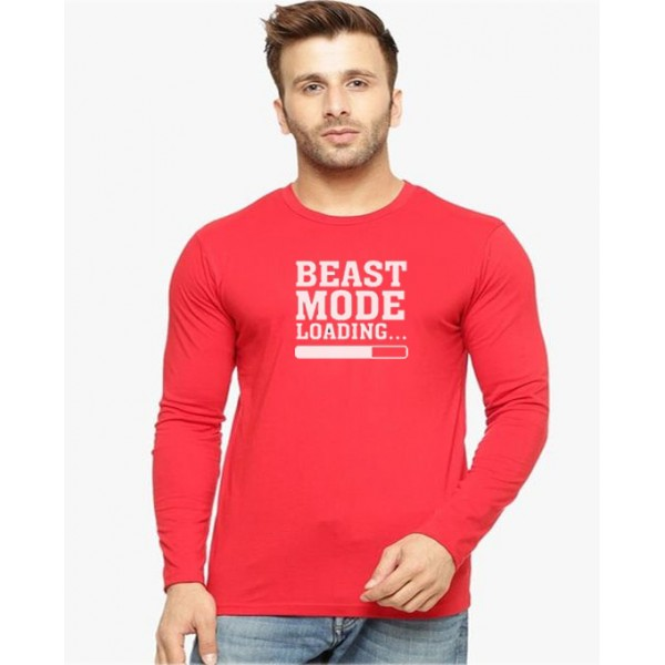 Red Beast Mode T-Shirt For Him