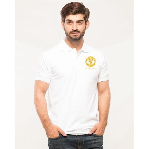 White Manchester Logo Polo shirt