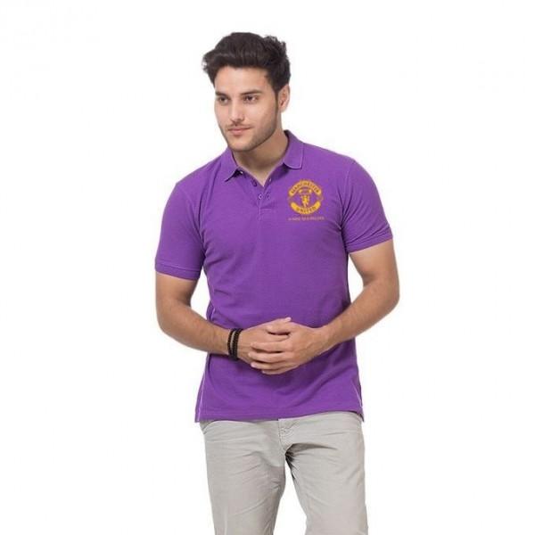 Purple Manchester Logo Polo Shirt