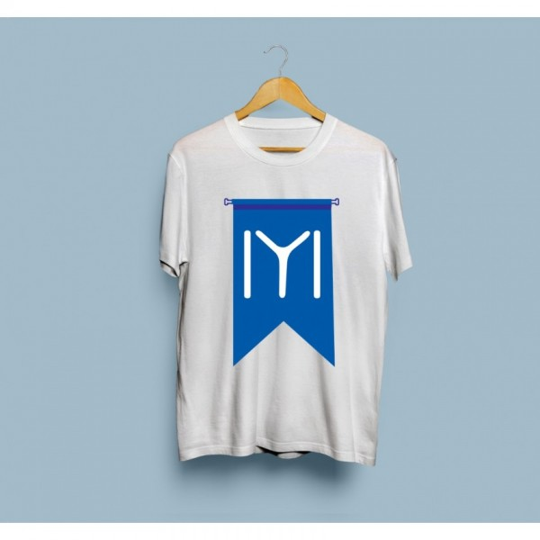 White Ertugrul Ghazi Kayi Tribe Flag Printed Cotton T shirt