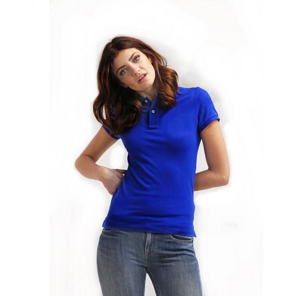 Royal Blue Plain Polo Shirt For Her