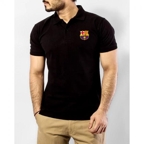 Barcelona Logo Cotton Polo T shirt for Men