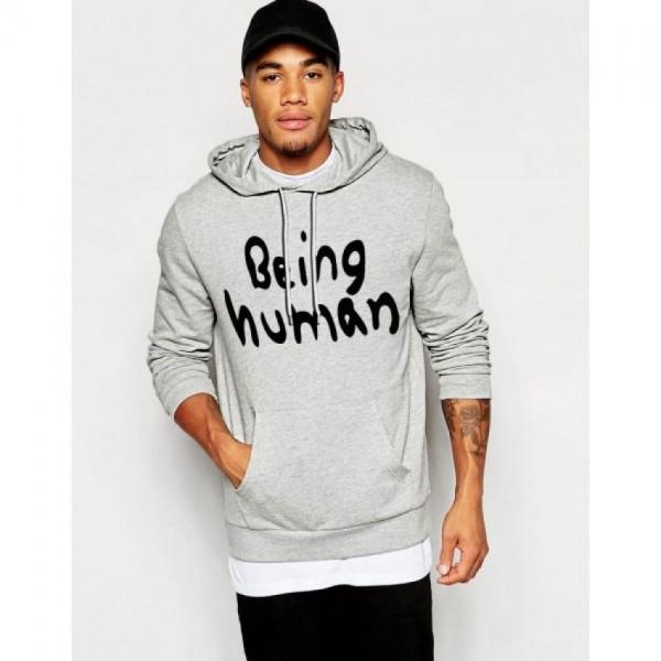Being Human Kangaroo Hoodie in Grey Colour