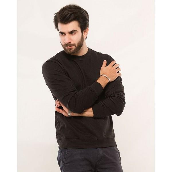 Plain Black Sweat Shirt For Him