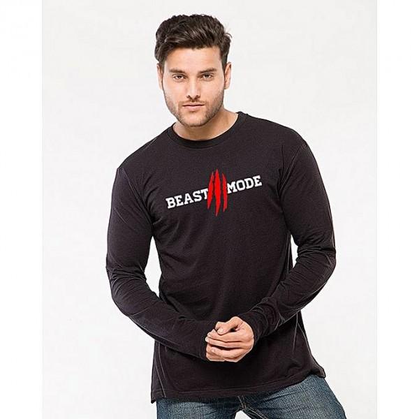 Black Beast Mode Graphics T shirt