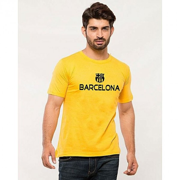 Yellow Barcelona Graphics T shirt