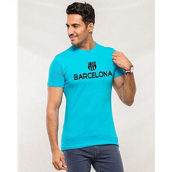 Turquoise Barcelona Printed T shirt