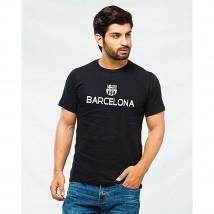 Black Barcelona Printed T shirt For Him