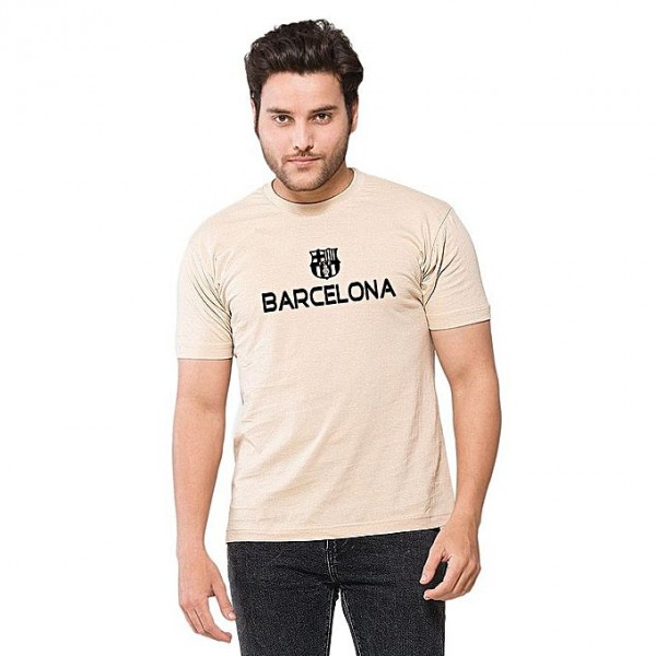 Beigh Barcelona Printed T shirt For Him