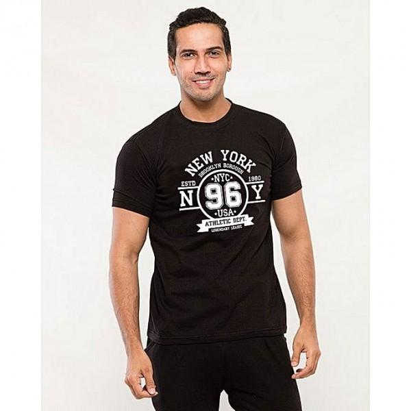 Black Brooklyn Printed T shirt