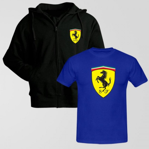 Bundle of Ferrari Hoodie With t shirt for Boys