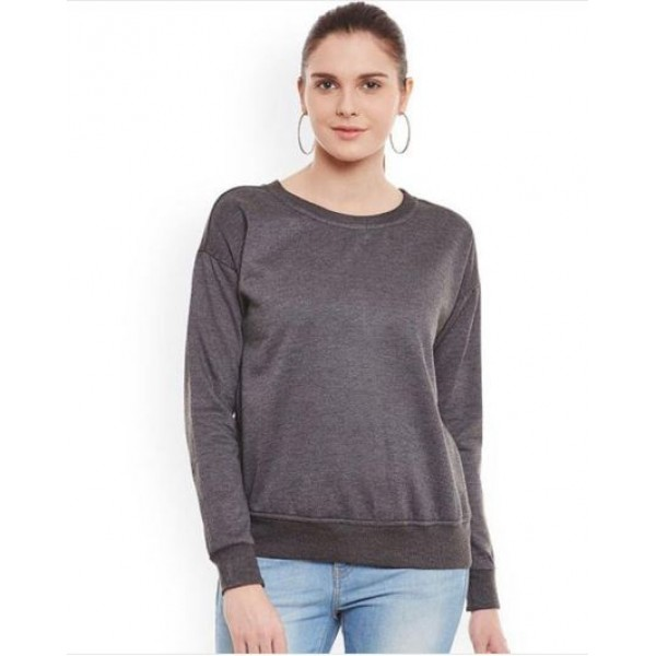 Charcoal Sweat Shirt For Her
