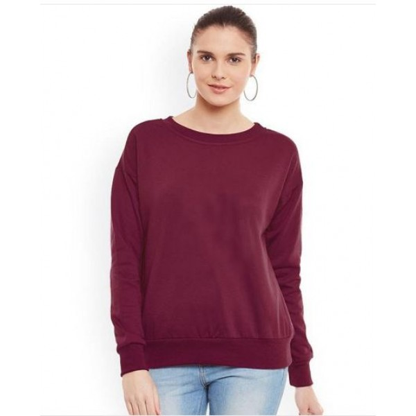 Maroon Sweat Shirt For Her