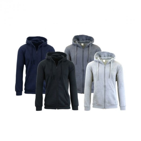 Pack of 04 Zipper Hoodies for Men