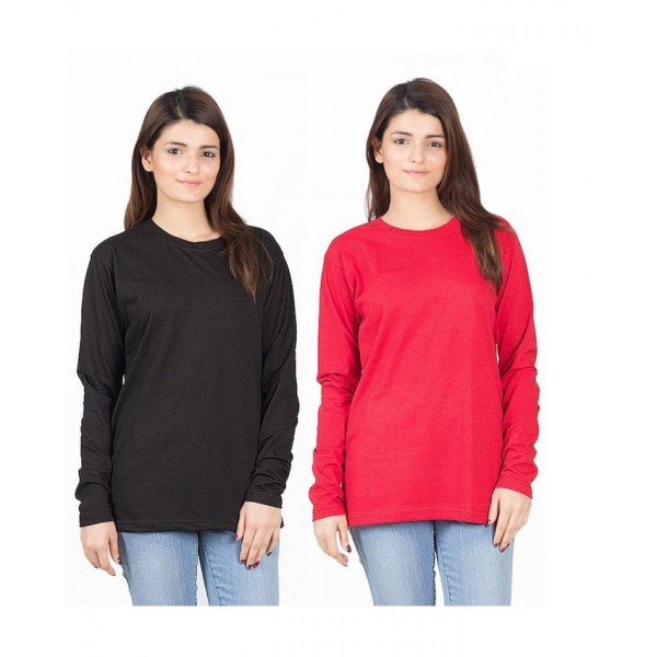 Pack of 02 Cotton Wear T shirts For Her
