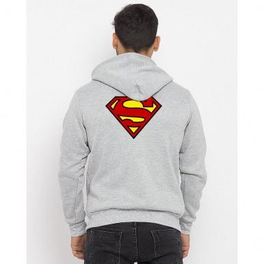Heather Grey Superman Hoodie For Him