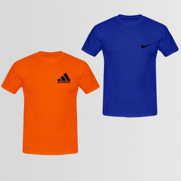 Pack of 02 Logo Printed T shirt For Him