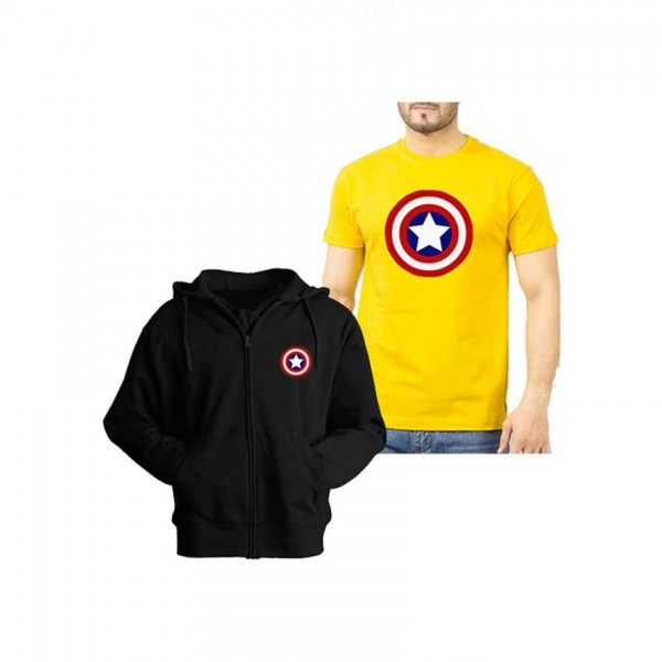 Captain America Hoodie and T shirt