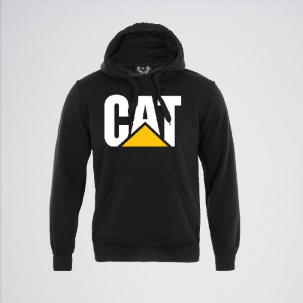 Black Color CAT Kangaroo Hoodie