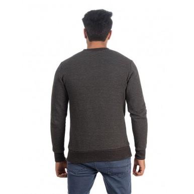 Plain Charcoal Sweat Shirt For Him