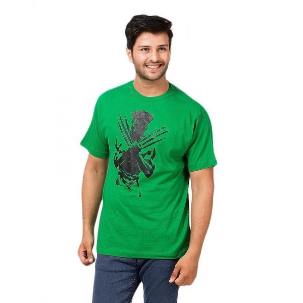 Green Wolverine Graphics T shirt