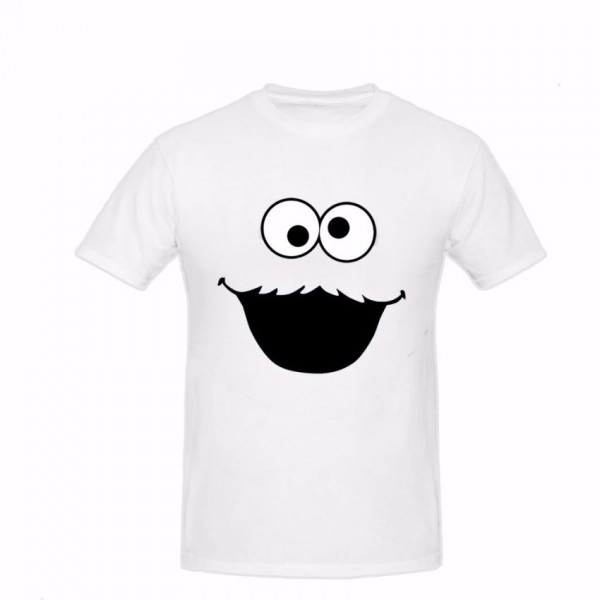 White Cookie Graphics Cotton T shirt