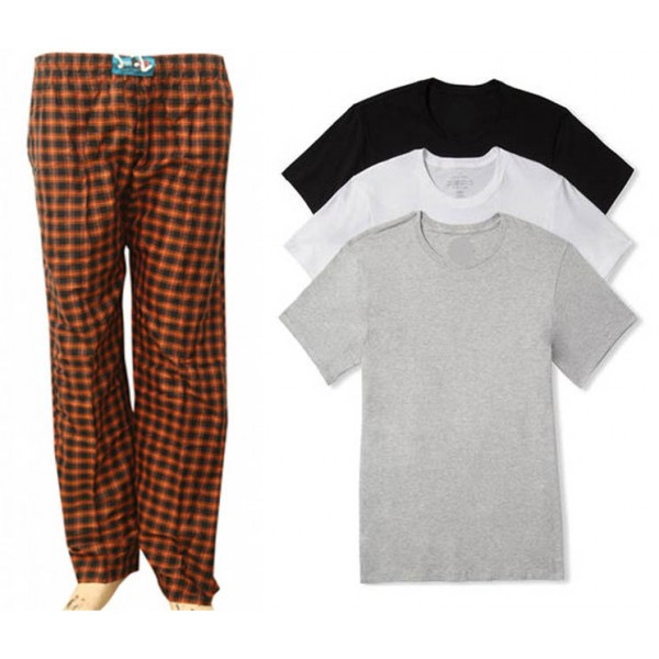 Pack of 04 - 3 Plain T shirts and 1 Trouser