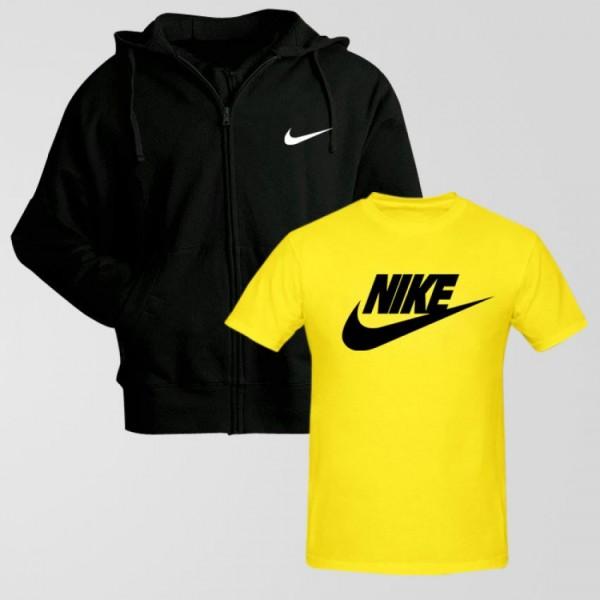 Bundle of 1 Hoodie With 1 Nike T shirt
