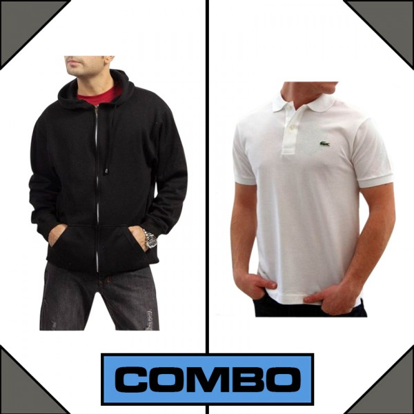 Pack of 1 Mens Hoodie and 1 Polo Shirt