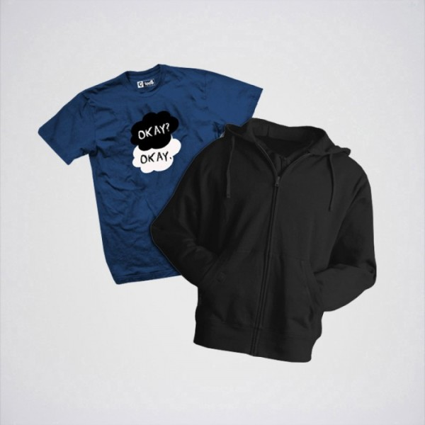 Bundle of 1 Hoodie and Okay Okay T shirt